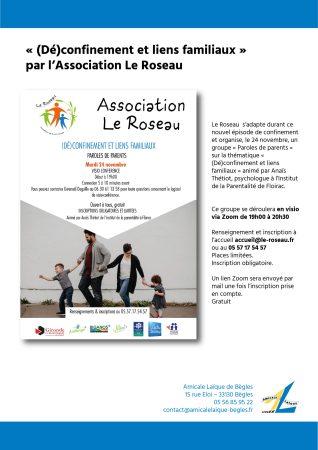 «(Dé)confinement et liens familiaux» par l'association Le Roseau