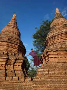 Just like this one, at the Ancient Temples of Old Bagan in Myanmar.
