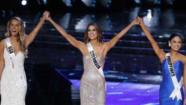 Miss Universe 2015 Top 3: Miss USA Olivia Jordan, Miss Colombia Ariadna Gutierrez, and Miss Philippines Pia Alonzo Wurtzbach