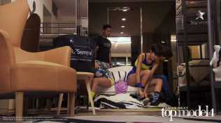 AsNTM4 Episode 9 - Girls dressing up in athletic wear before heading out