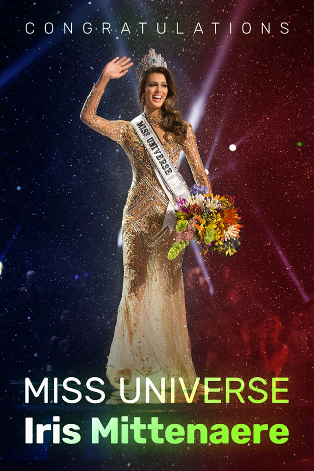 Amiciness congratulates 65th Miss Universe Iris Mittenaere from France