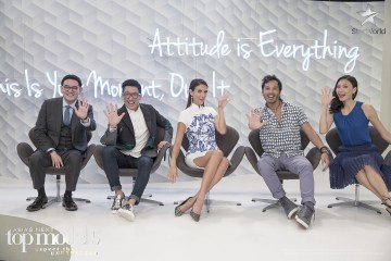 Glenn Tan, Daniel Boey and Xiao Qing join Cindy and Yu Tsai on the panel for Asia's Next Top Model Cycle 5 Episode 12