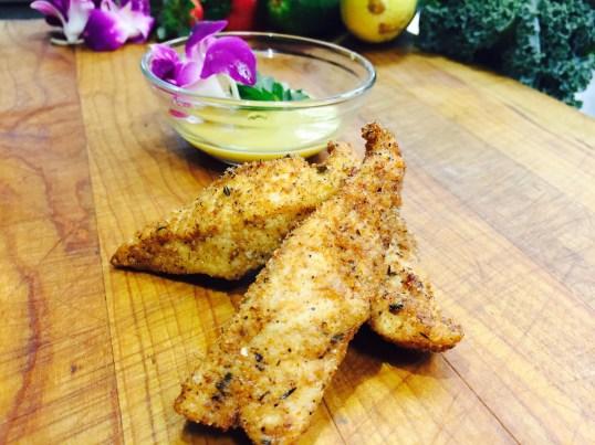 Cajun Chicken Fingers with Honey Mustard