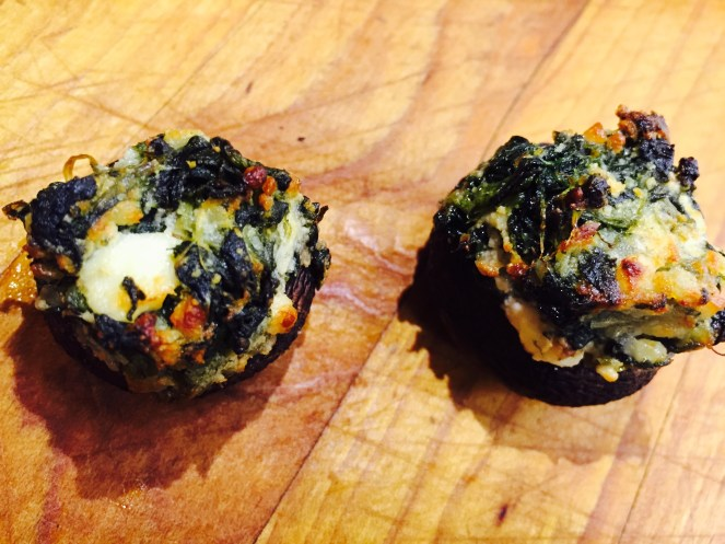 Florentine Mushroom Caps - Stuffed with Spinach and Feta