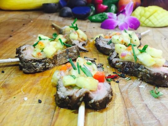 Thai Marinated Flank Steak Skewers