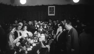 Concurs de Sant Feliu de Llobregat, de 1955, imatge : NODO
