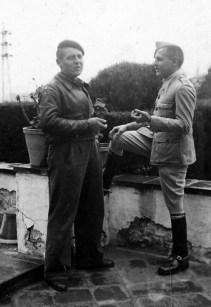 Simó i Marí, probablement en un permís l'any 1941 a Sol i Vent. Foto: Foto arxiu família Dot.