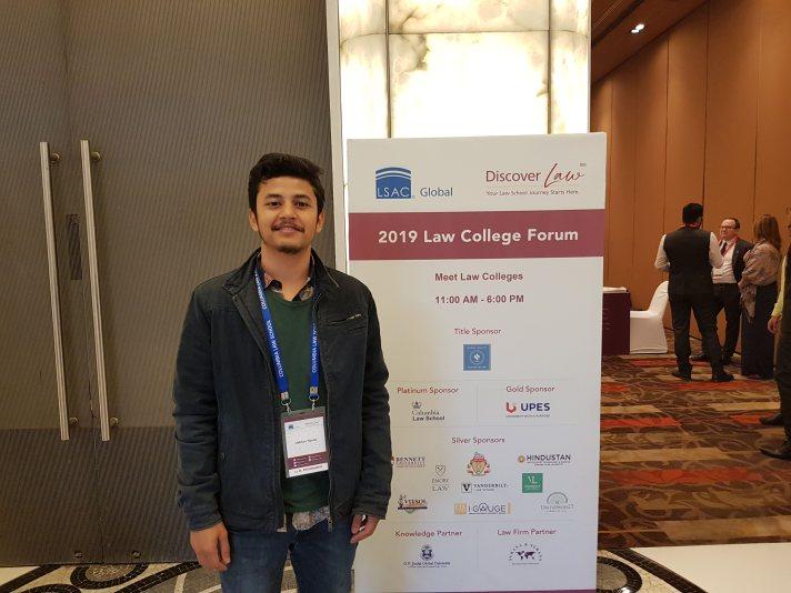 Udbhav Nanda, winner of the Amicus LLM Fair contest