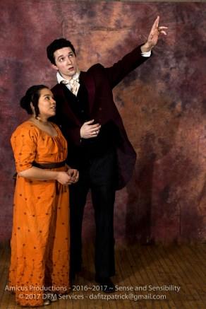 Elinor (Tamara Freeman) and Edward (Conor Ling)