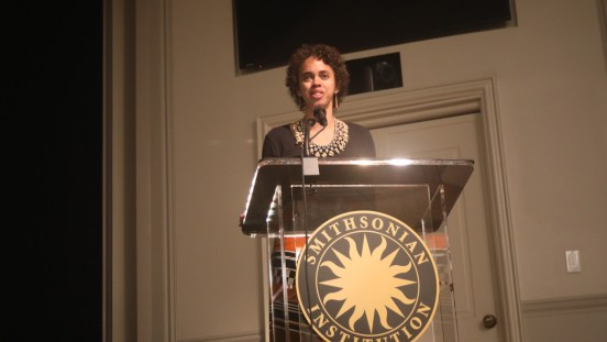 Amie Batalibasi at the Smithsonian Mother Tongue Film Festival