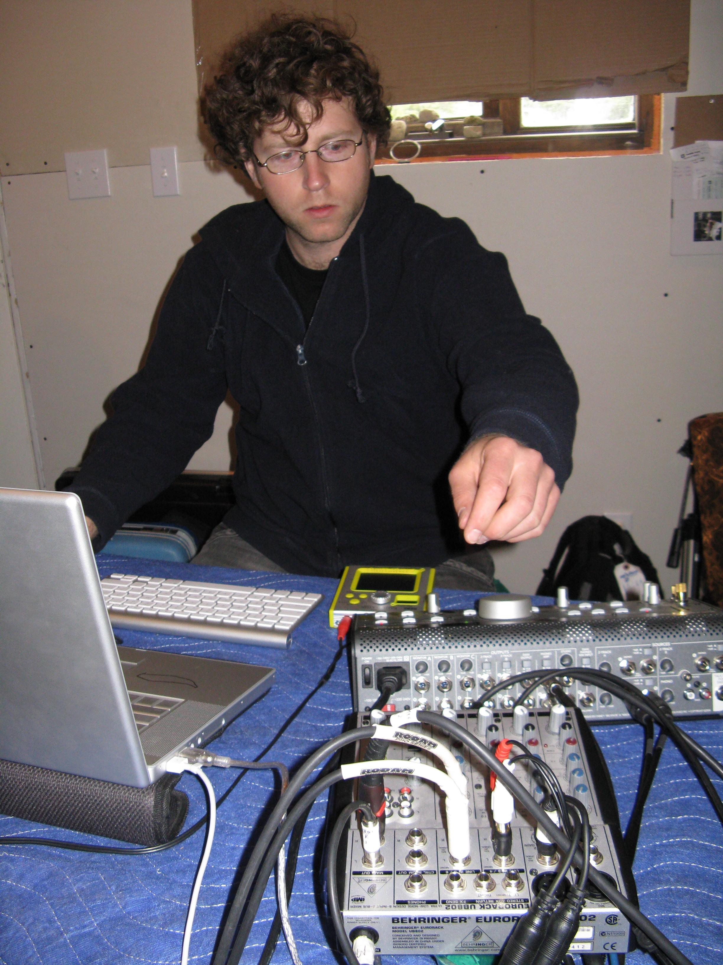 Jordy making music for Cam & Legs