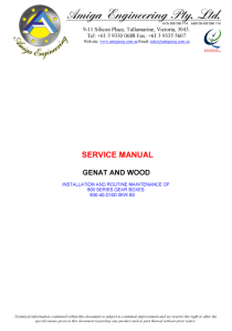Maintenance Manual Cover Example