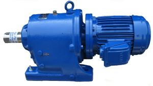 Genat and Wood™ Gearbox attached to Teco Australia Cast Iron Motor