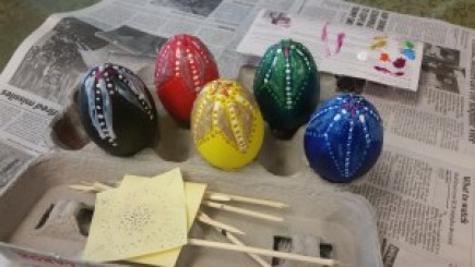 bedazzled easter dragon eggs