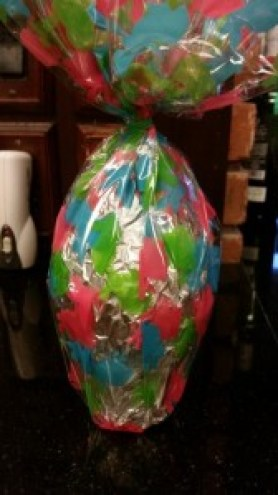 Amigas4all, chocolate Easter  egg tied together