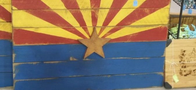Things To Do in Arizona....When you Want to Go Vintage Shopping fair AZ flag wood