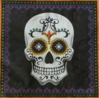 halloween amigas4all day of the dead napkin