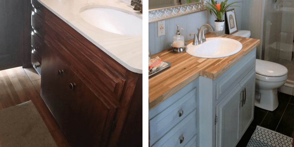 How To Magically Change Your Old Bathroom Vanity