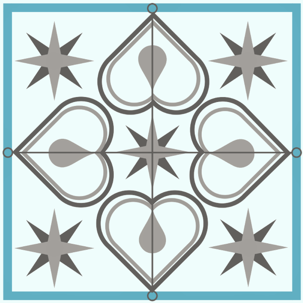 Faux Cement Tile Backsplash Design image