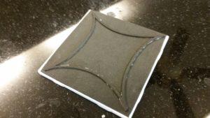faux cement tile foam base