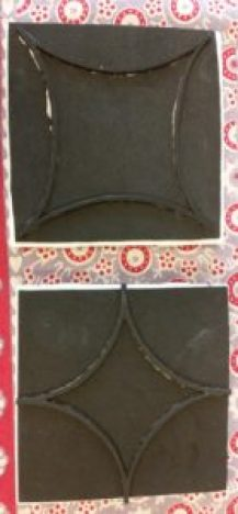 faux cement tile backsplash project stamp design image