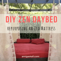 How to DIY a Fabulous Outdoor Zen Daybed Using an Old Mattress