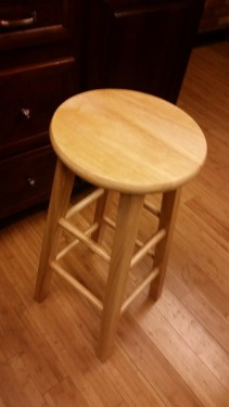 Burlap Bar Stool Redo image before redo amigas4all pic