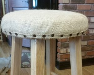 burlap bar stool all nailheads in amigas4all