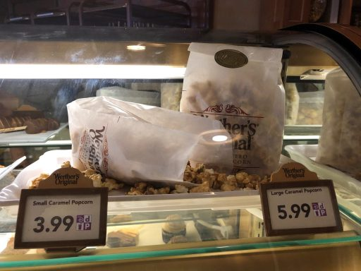 Pipoca de Caramelo vendida no pavilhão da Alemnanha em Epcot