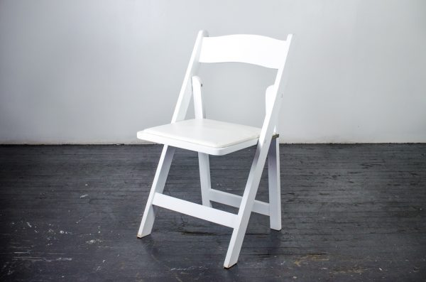 events-weddings folding chair white Wood