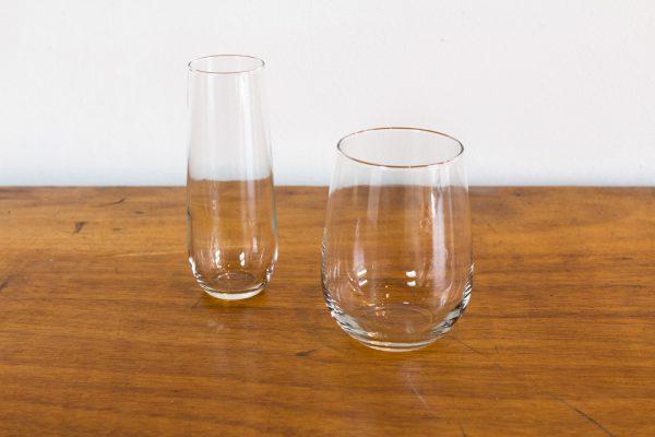 Wine Glass, Steamless 17oz, Champagne Glass, Steamless 8oz