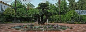 Plaza central del Jardín Botánico de Córdoba