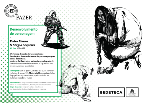 E-Flyer Formação Bedeteca Amadora - Desenvolvimento de personagem