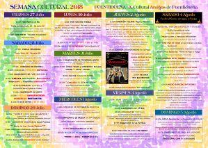 Cartel semana cultural 2018