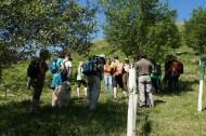 Primera parada y explicación de la ruta y actuciones del proyecto LIFE Miera