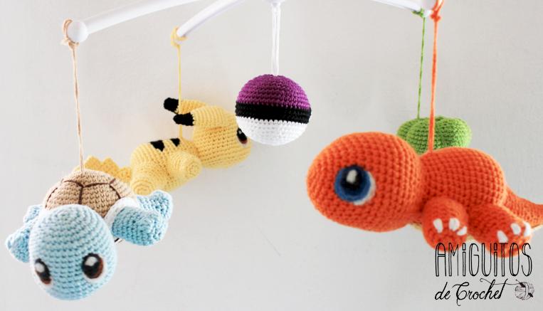 Móvil Pokemón- Amigurumis. Amiguitos de crochet
