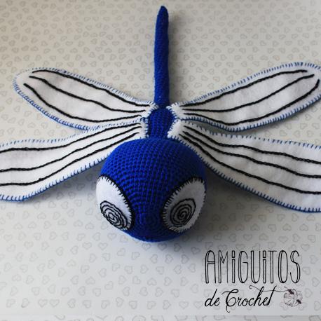 Libélula amigurumis-Personalizado-Amiguitos de Crochet