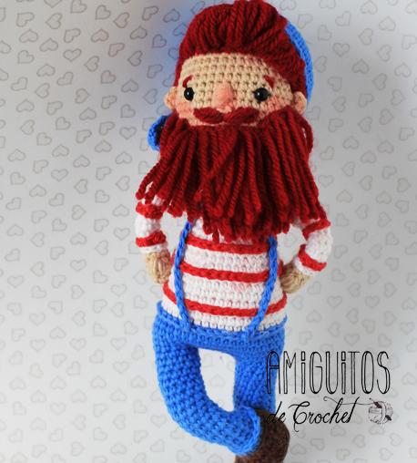 Pirata Barbarroja amigurumis-Personalizado-Amiguitos de Crochet