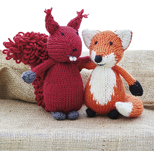 Fox amigurumi with squirel friend