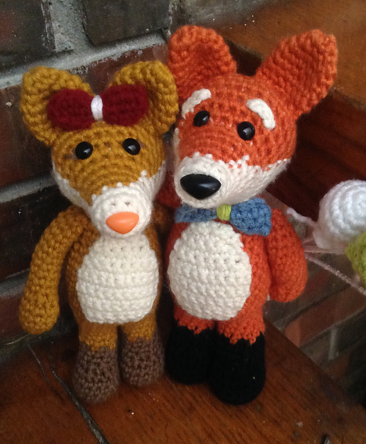 Mr and Mrs Fox Crochet Pattern