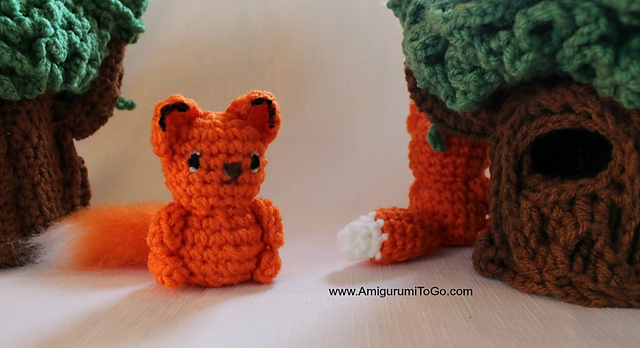 Tiny fox amigurumi pattern - Amigurumi Today | 348x640