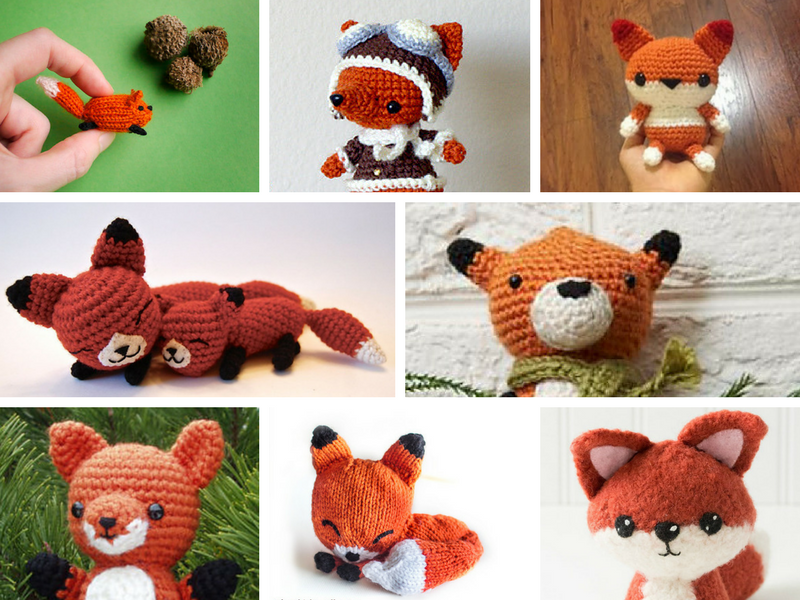 15 fox amigurumi patterns