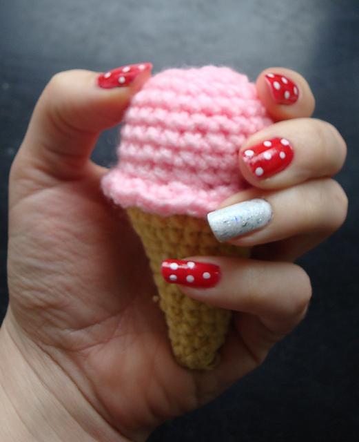 Crocheted Ice cream cone