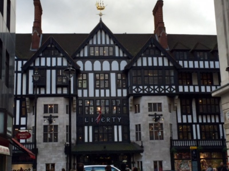 The famous Liberty London building, in Tudor Revival style