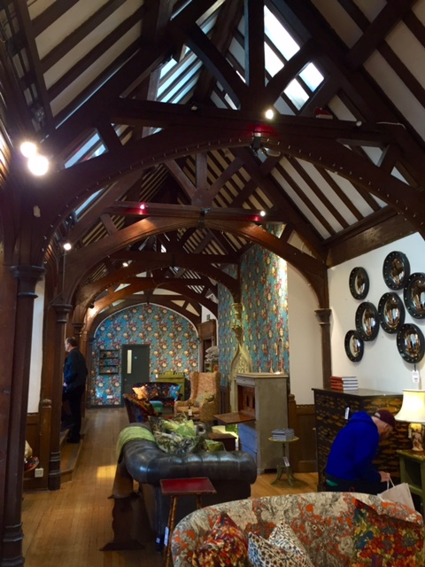 Interior of Liberty London, including Tudor Ceilings