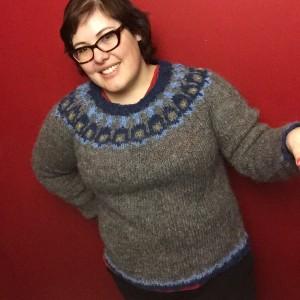 Modern Lopapeysa handknit sweater