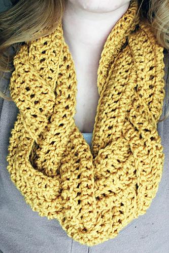 braided scarf - free crochet pattern
