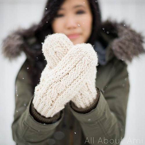 cabled crochet mittens patterns