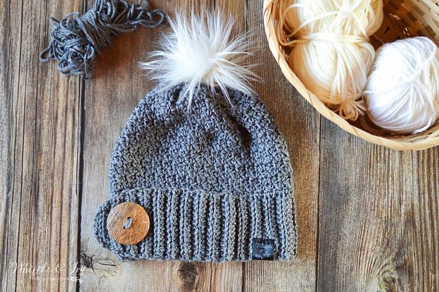 Free crocheted beanie hat pattern