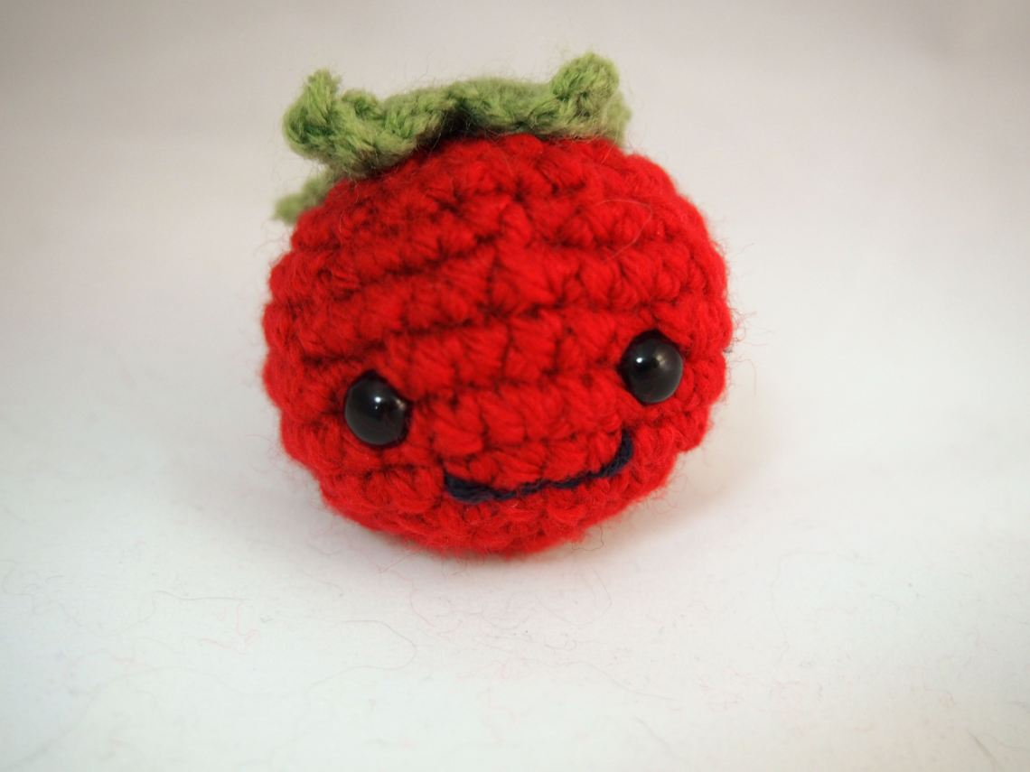 Adorable crocheted tomato